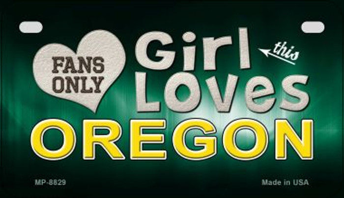 This Girl Loves Her Oregon Novelty Metal Motorcycle Plate MP-8829
