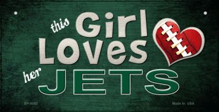 This Girl Loves Her Jets Novelty Metal Bicycle Plate BP-8052