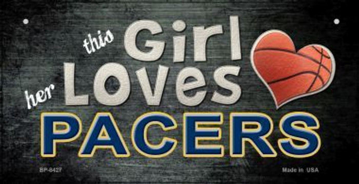 This Girl Loves Her Pacers Novelty Metal Bicycle Plate BP-8427