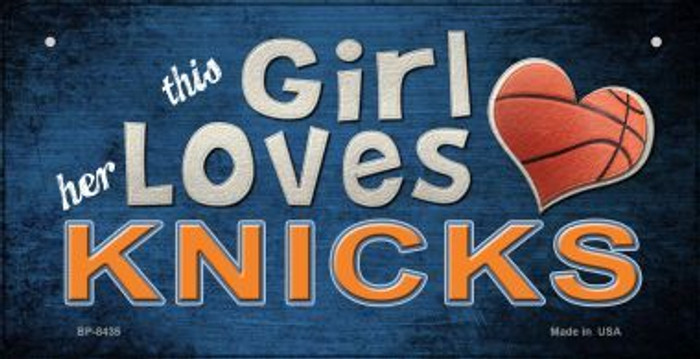 This Girl Loves Her Knicks Novelty Metal Bicycle Plate BP-8435