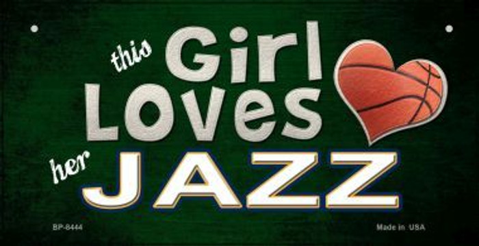 This Girl Loves Her Jazz Novelty Metal Bicycle Plate BP-8444