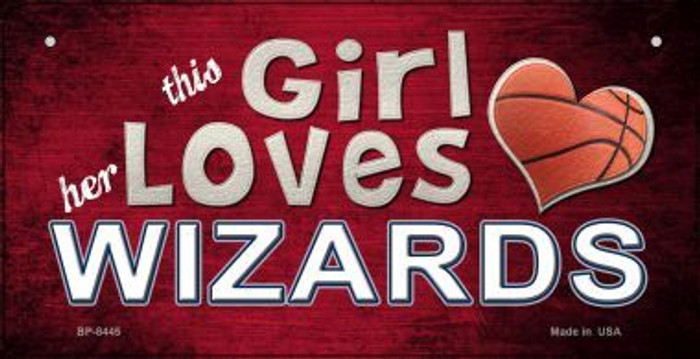 This Girl Loves Her Wizards Novelty Metal Bicycle Plate BP-8445