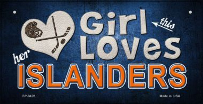 This Girl Loves Her Islanders Novelty Metal Bicycle Plate BP-8452