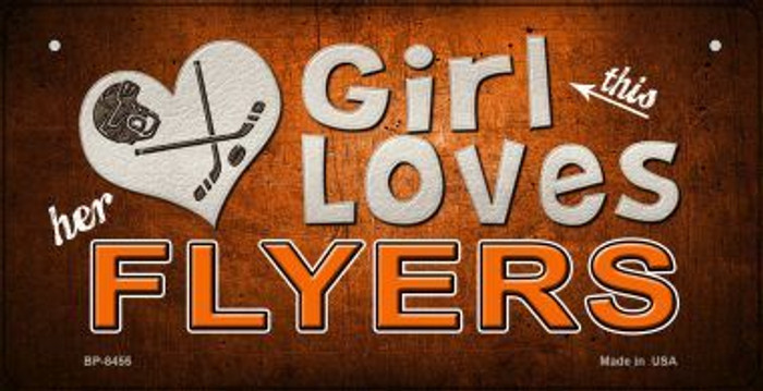 This Girl Loves Her Flyers Novelty Metal Bicycle Plate BP-8455