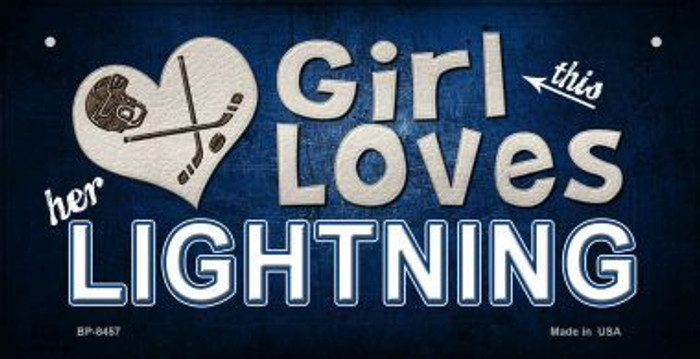 This Girl Loves Her Lightning Novelty Metal Bicycle Plate BP-8457