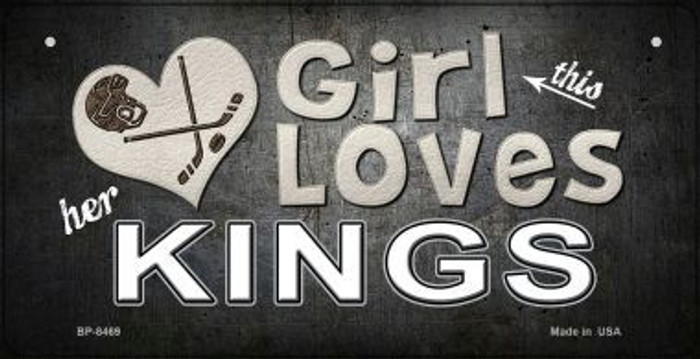 This Girl Loves Her Kings Novelty Metal Bicycle Plate BP-8469