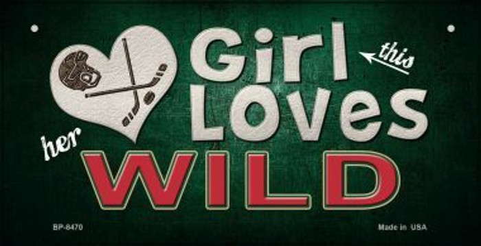 This Girl Loves Her Wild Novelty Metal Bicycle Plate BP-8470