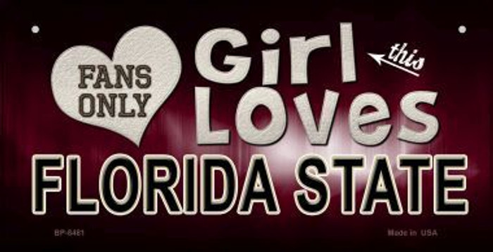 This Girl Loves Her Florida State Novelty Metal Bicycle Plate BP-8481