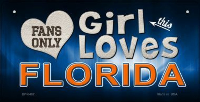 This Girl Loves Her Florida Novelty Metal Bicycle Plate BP-8482