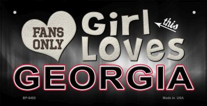 This Girl Loves Her Georgia Novelty Metal Bicycle Plate BP-8483