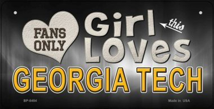This Girl Loves Her Georgia Tech Novelty Metal Bicycle Plate BP-8484