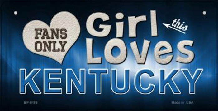 This Girl Loves Her Kentucky Novelty Metal Bicycle Plate BP-8486