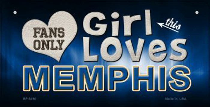 This Girl Loves Her Memphis Novelty Metal Bicycle Plate BP-8490
