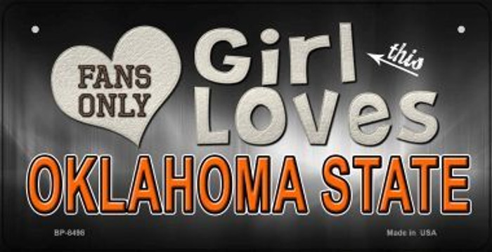 This Girl Loves Her Oklahoma State Novelty Metal Bicycle Plate BP-8498