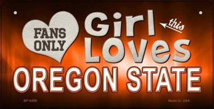 This Girl Loves Her Oregon State Novelty Metal Bicycle Plate BP-8499