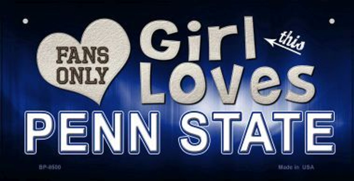 This Girl Loves Her Penn State Novelty Metal Bicycle Plate BP-8500