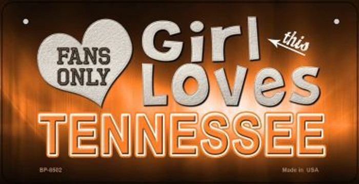 This Girl Loves Her Tennessee Novelty Metal Bicycle Plate BP-8502