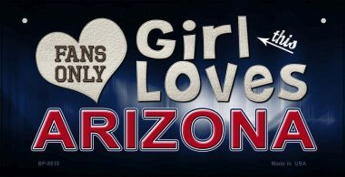 This Girl Loves Her Arizona Novelty Metal Bicycle Plate BP-8510
