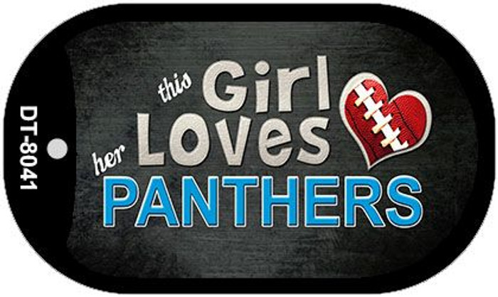 This Girl Loves Her Panthers Novelty Metal Dog Tag Necklace DT-8041