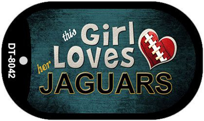 This Girl Loves Her Jaguars Novelty Metal Dog Tag Necklace DT-8042
