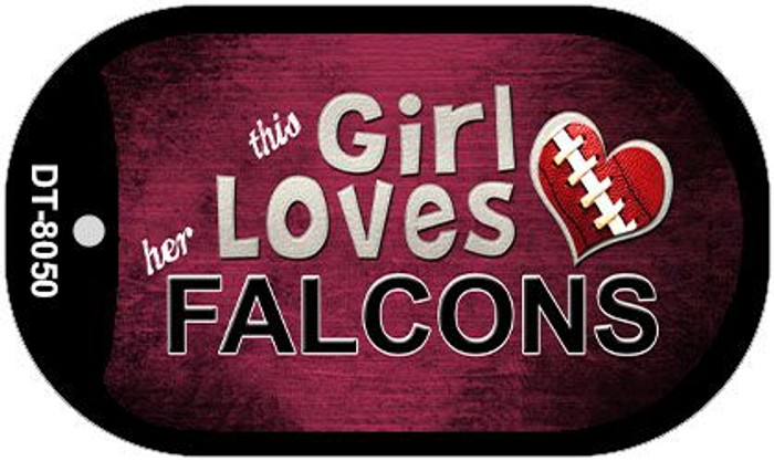 This Girl Loves Her Falcons Novelty Metal Dog Tag Necklace DT-8050