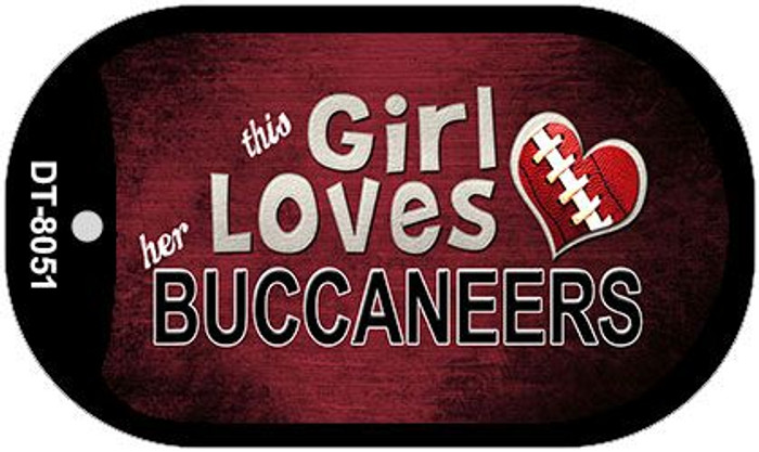 This Girl Loves Her Buccaneers Novelty Metal Dog Tag Necklace DT-8051