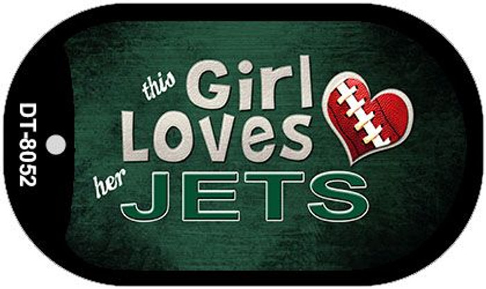 This Girl Loves Her Jets Novelty Metal Dog Tag Necklace DT-8052