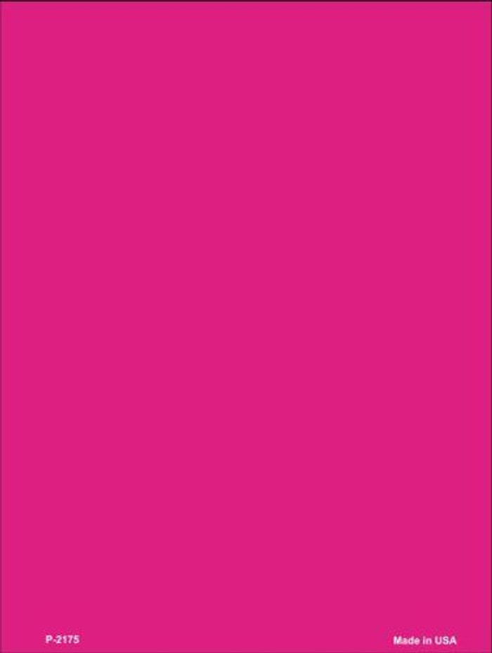 Solid Hot Pink Metal Novelty Parking Sign