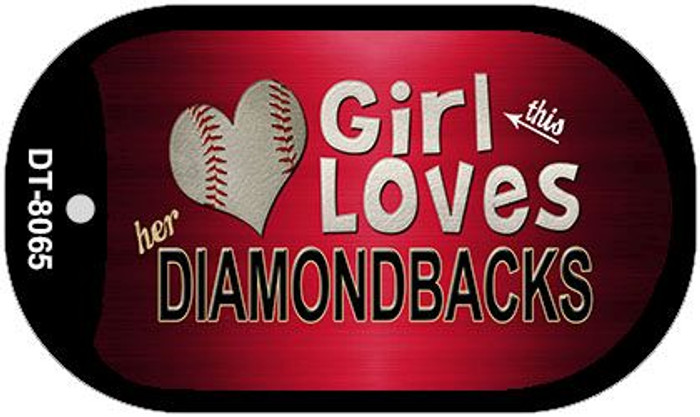 This Girl Loves Her Diamondbacks Novelty Metal Dog Tag Necklace DT-8065