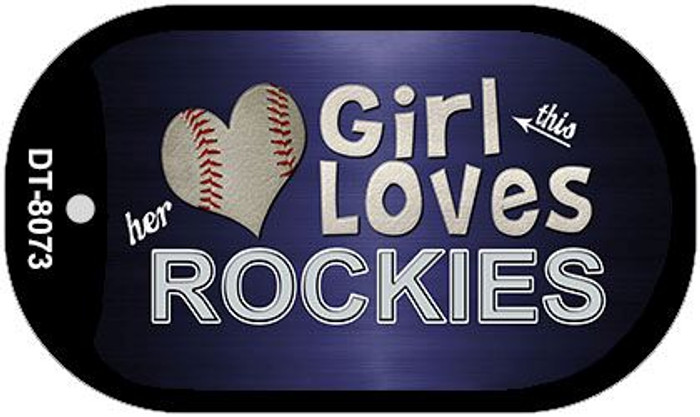 This Girl Loves Her Rockies Novelty Metal Dog Tag Necklace DT-8073