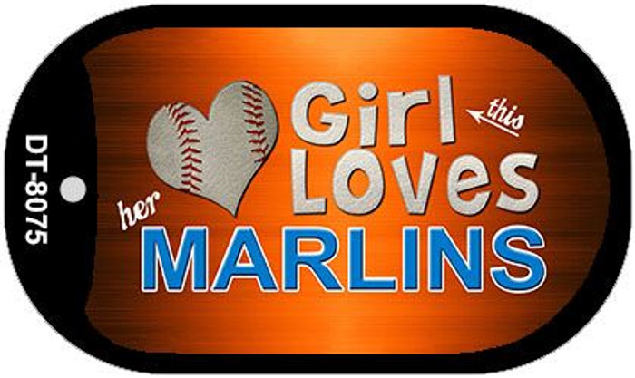 This Girl Loves Her Marlins Novelty Metal Dog Tag Necklace DT-8075