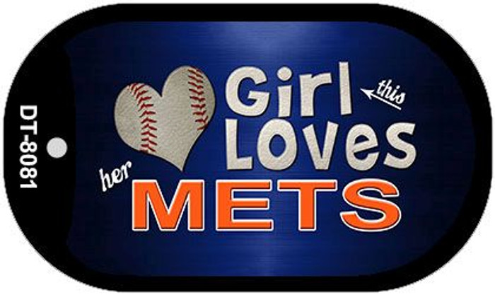 This Girl Loves Her Mets Novelty Metal Dog Tag Necklace DT-8081