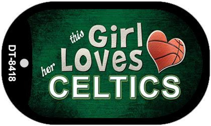This Girl Loves Her Celtics Novelty Metal Dog Tag Necklace DT-8418
