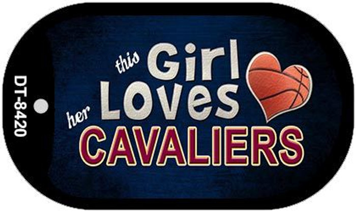 This Girl Loves Her Cavaliers Novelty Metal Dog Tag Necklace DT-8420