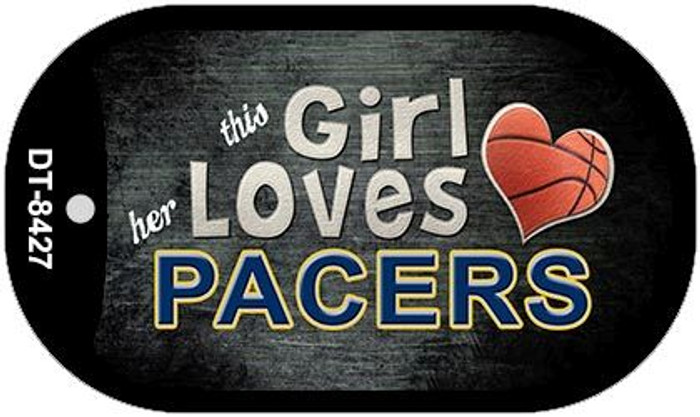 This Girl Loves Her Pacers Novelty Metal Dog Tag Necklace DT-8427
