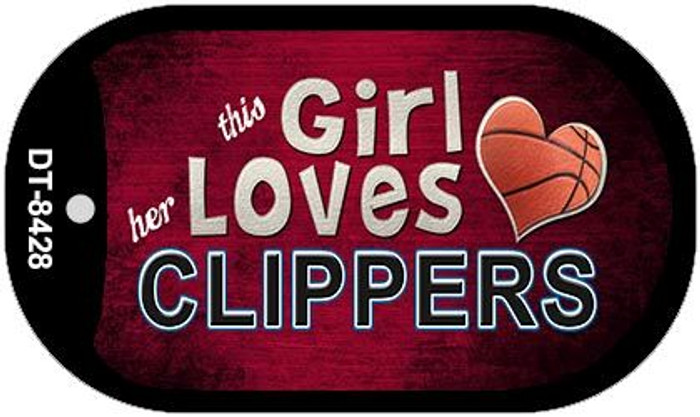 This Girl Loves Her Clippers Novelty Metal Dog Tag Necklace DT-8428