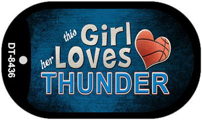 This Girl Loves Her Thunder Novelty Metal Dog Tag Necklace DT-8436