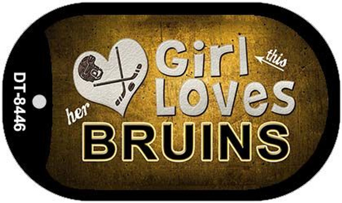 This Girl Loves Her Bruins Novelty Metal Dog Tag Necklace DT-8446