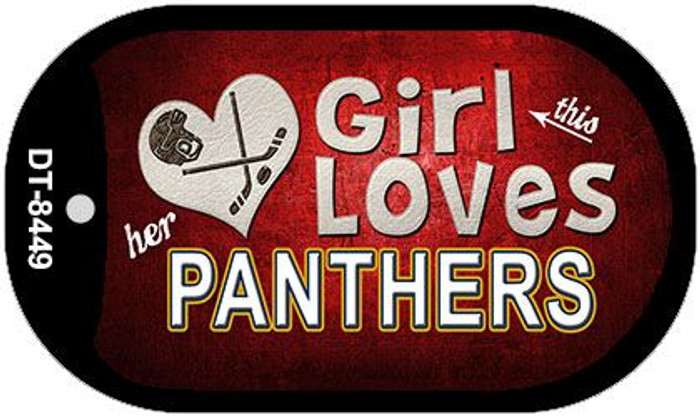 This Girl Loves Her Panthers Novelty Metal Dog Tag Necklace DT-8449