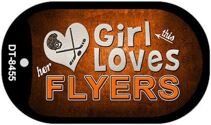 This Girl Loves Her Flyers Novelty Metal Dog Tag Necklace DT-8455