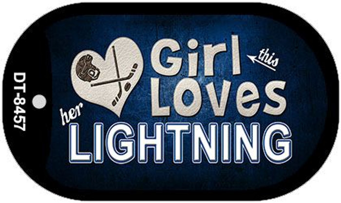 This Girl Loves Her Lightning Novelty Metal Dog Tag Necklace DT-8457