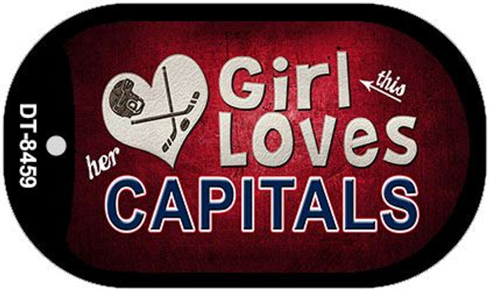 This Girl Loves Her Capitals Novelty Metal Dog Tag Necklace DT-8459
