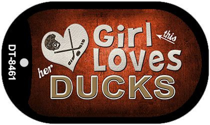 This Girl Loves Her Ducks Novelty Metal Dog Tag Necklace DT-8461