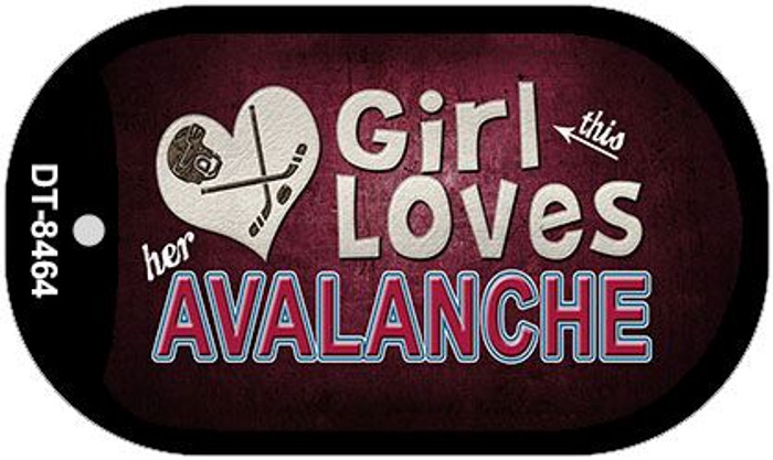 This Girl Loves Her Avalanche Novelty Metal Dog Tag Necklace DT-8464