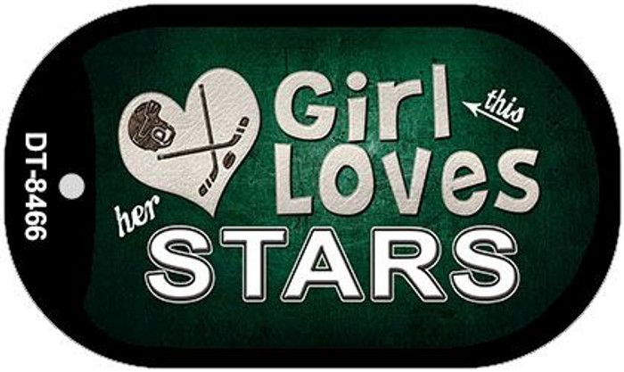 This Girl Loves Her Stars Novelty Metal Dog Tag Necklace DT-8466