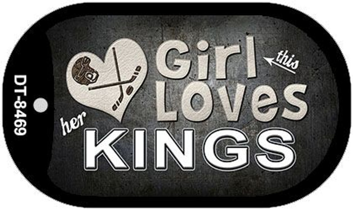 This Girl Loves Her Kings Novelty Metal Dog Tag Necklace DT-8469