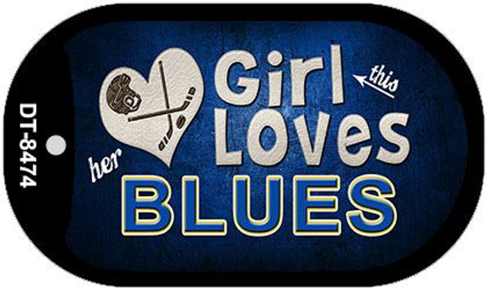 This Girl Loves Her Blues Novelty Metal Dog Tag Necklace DT-8474