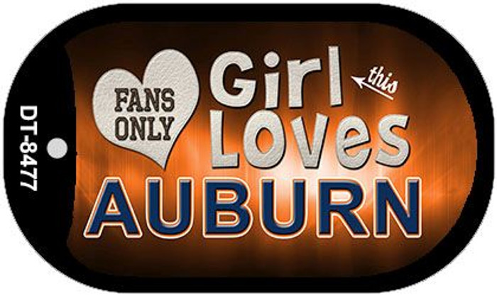This Girl Loves Her Auburn Novelty Metal Dog Tag Necklace DT-8477