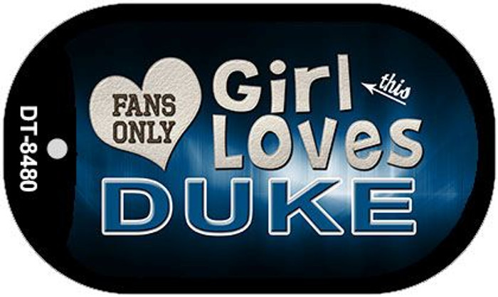 This Girl Loves Her Duke Novelty Metal Dog Tag Necklace DT-8480