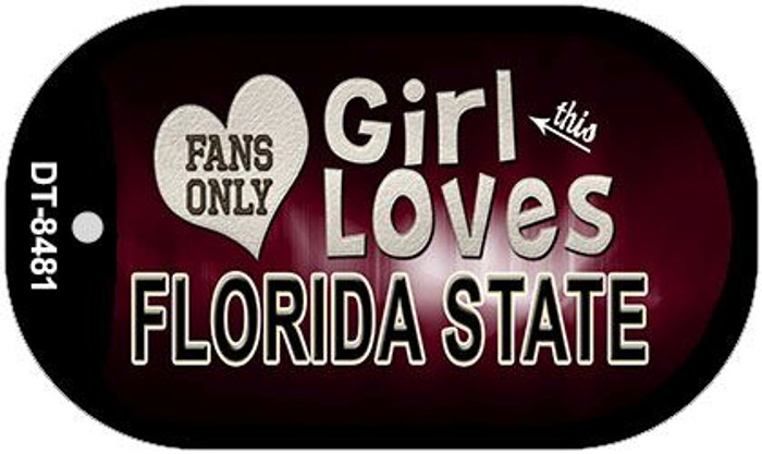 This Girl Loves Her Florida State Novelty Metal Dog Tag Necklace DT-8481
